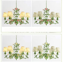 Rose Garden Chandelier - Pink Rose 6L Design / 21-30W - Cottage Chandelier