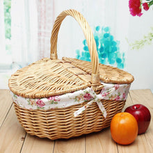Seasons Picnic Basket with Floral Lining - Picnic