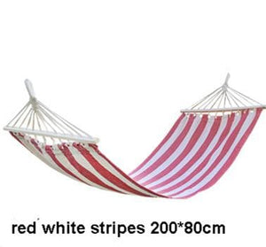 Striped Portable Hammock - Red White Stripes - Hammock