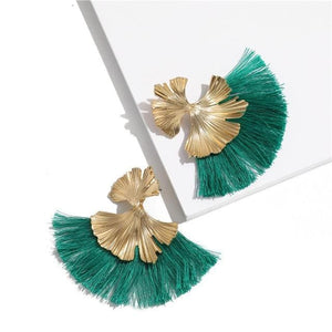 Stunning Susan Earrings - Green - Earrings