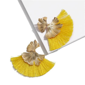 Stunning Susan Earrings - Yellow - Earrings