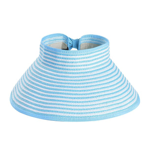 Susanna Sun Hat With Bow Detail - Sky-Blue - Hat