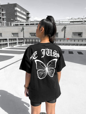 Black Butterfly Tee Backpiece