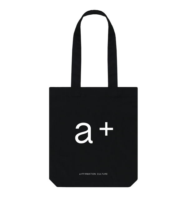 Black a+ Tote Bag - Black