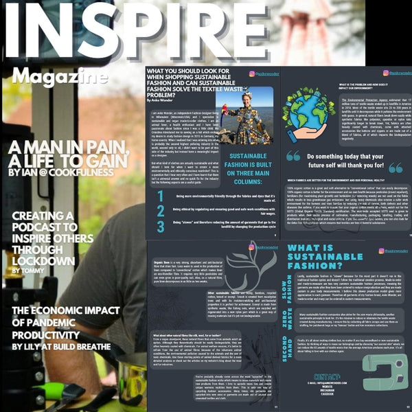 Inspire Magazine Article about Sustainable Fashion by Anke Wonder