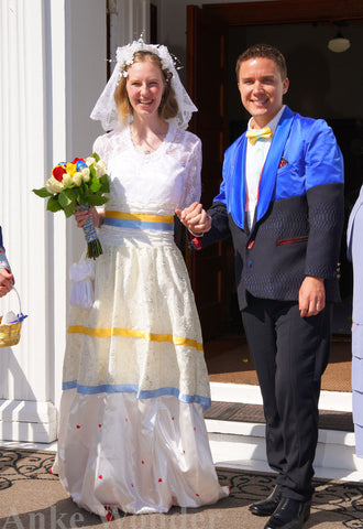 Wedding outfits made by Anke Wonder.