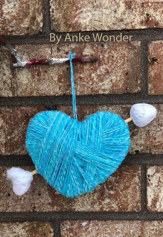 Blue Valentines Heart Decoration | Free US shipping - Anke Wonder