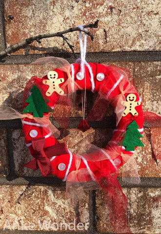 Indoor Christmas Wreath*Fabric Xmas Wreath - Anke Wonder