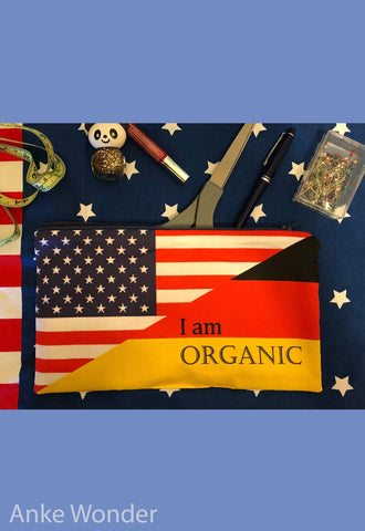 Zippered German American Flag Pouch - Anke Wonder