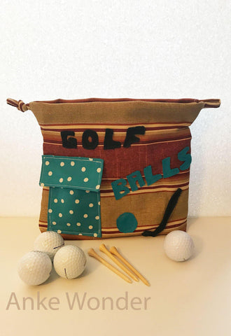 Drawstring Bag for Golf Balls - Anke Wonder