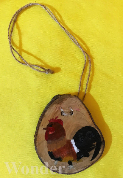 Wooden Hawaiian Chicken Necklace - Anke Wonder