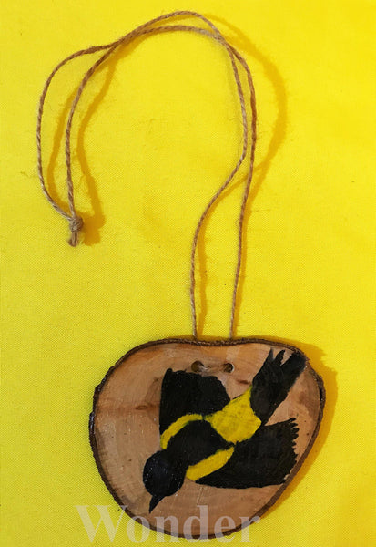 Wooden Black-Cowled Oriole Necklace - Anke Wonder