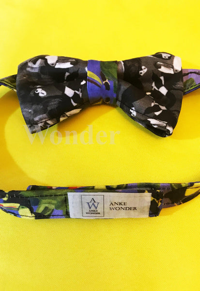 "Men´s Bow Tie ""Bird Lovers - black&white"" - Anke Wonder"