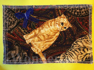 Fabric Postcard Cats -2- - Anke Wonder