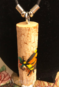 Monarch Butterfly Wooden Necklace - Anke Wonder