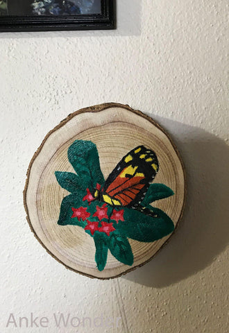 Wooden Monarch Butterfly Artwork - Anke Wonder