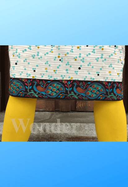 Women´s Blue Peacock Admirers Skirt