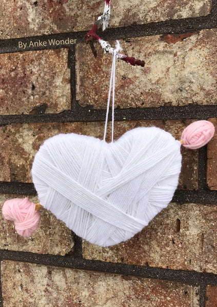 White Valentines Heart Decoration | Free US shipping - Anke Wonder