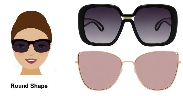 Choose sunglases for round face