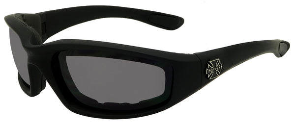 Sport sunglasses with grey lenses
