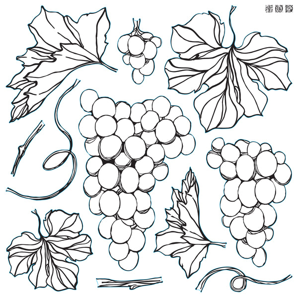 Grapes Stamp -- PRE ORDER ONLY
