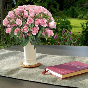 Light Pink Roses & Alstroemerias Bouquet (50 Stems) - Bloomsfully