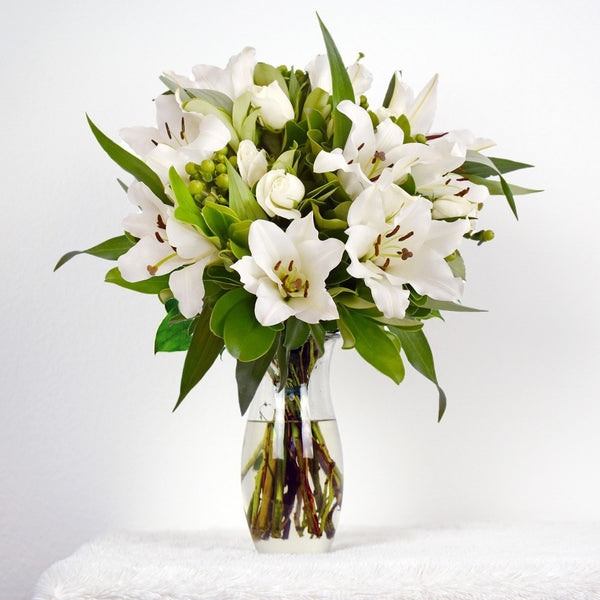 White Bouquet Simple Me! (30 Stems per Bouquet Pack 1 units) - Bloomsfully
