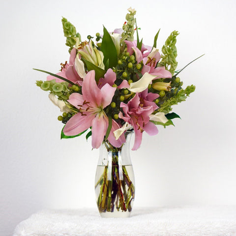 Hot Pink & White Bouquet Simple Me! (30 Stems per Bouquet Pack 1 units) - Bloomsfully Wholesale Flowers