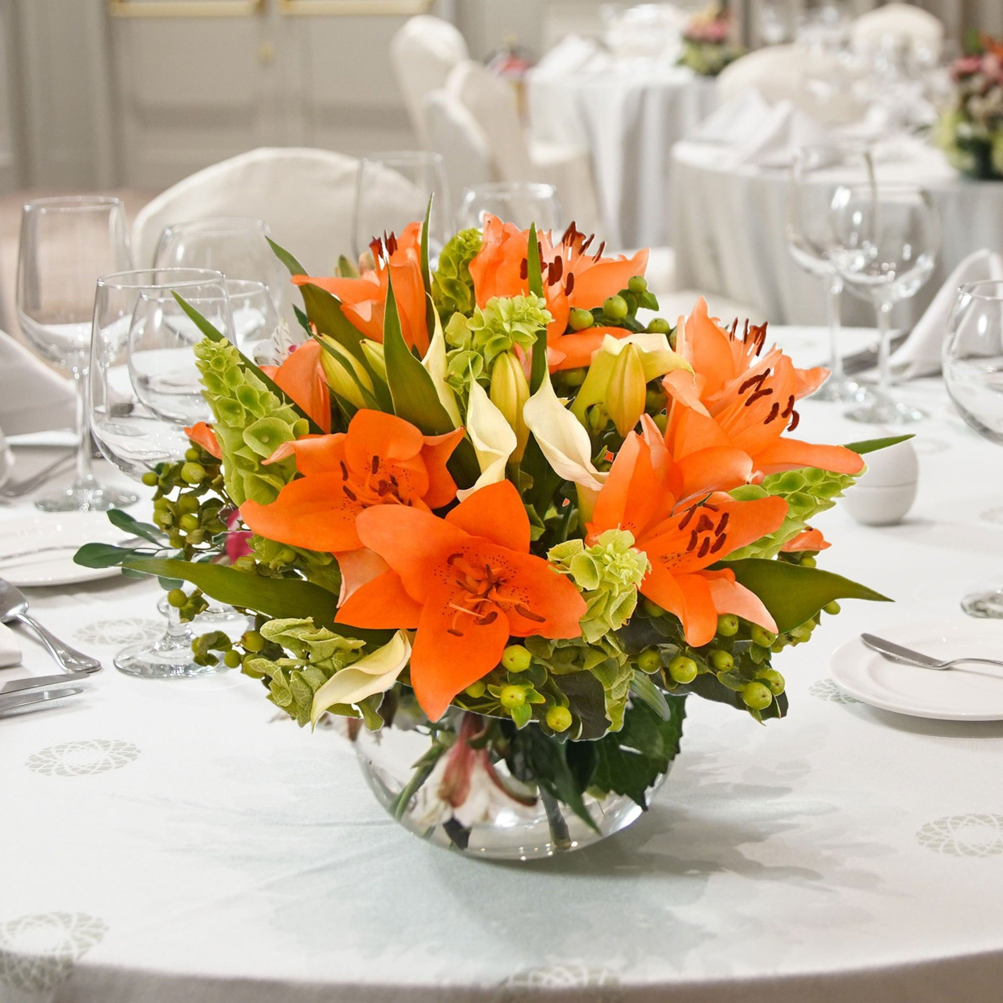 Orange Centerpiece Sonoma! (30 Stems per Centerpiece Pack 5 units) - Bloomsfully Wholesale Flowers