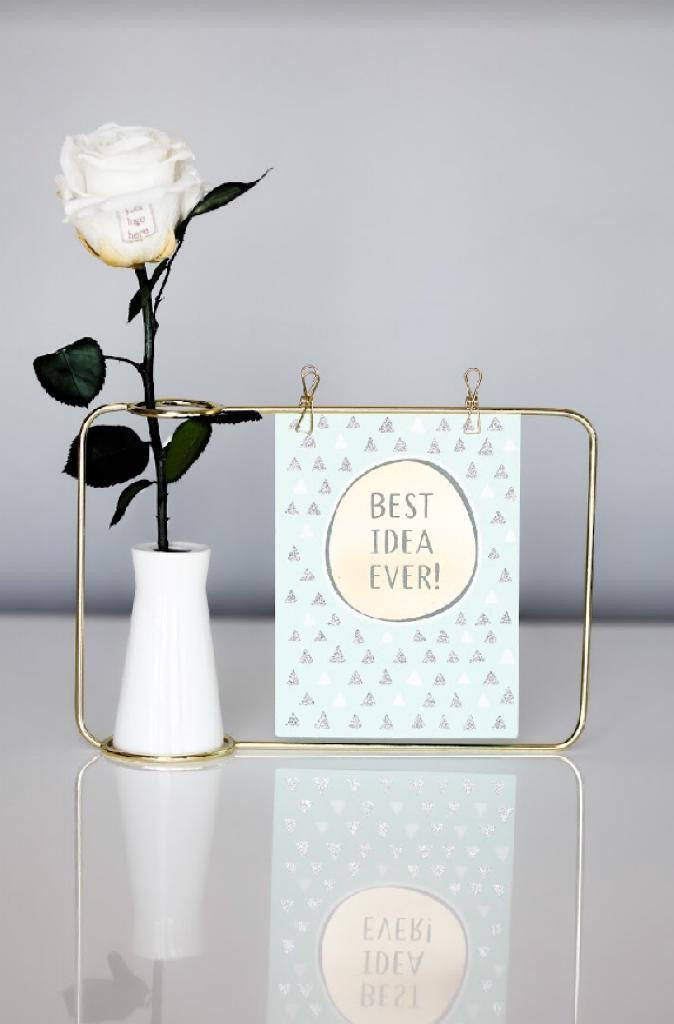 Photo frame and Preserved Rose mini Bouquet