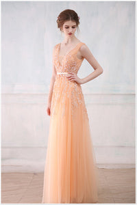 Backless Long Evening Dresses Bride