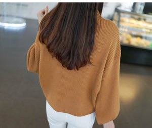 Loose Knitted Sweaters Female Jumper Tops