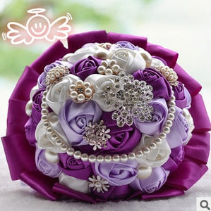 Fashion High-grade Bouquet Luxury Satin