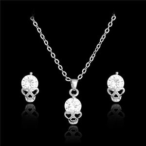 Crystal Skull Jewelry Set
