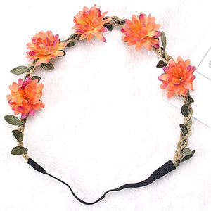 Headband Girls Flowers Hair