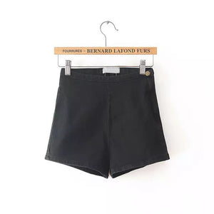 High Waisted Denim Shorts Women Candy Color
