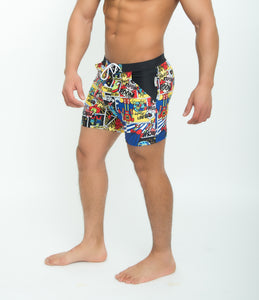 Basic Traditional Swimsuits Long Board Boxer