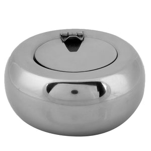 Large Drum Shape Ashtray Stainless Steel