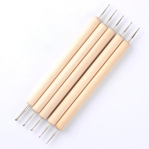 Wooden Dotting Pen Marbleizing Tool Nail