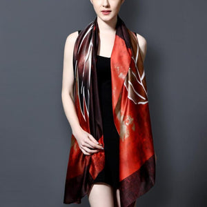 Silk Scarf Luxury Brand hijab Fashion