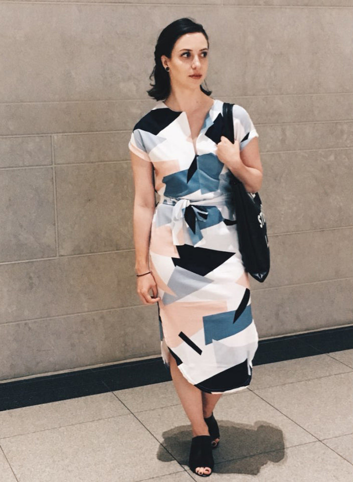 Casual Sashes Robe Midi Dress
