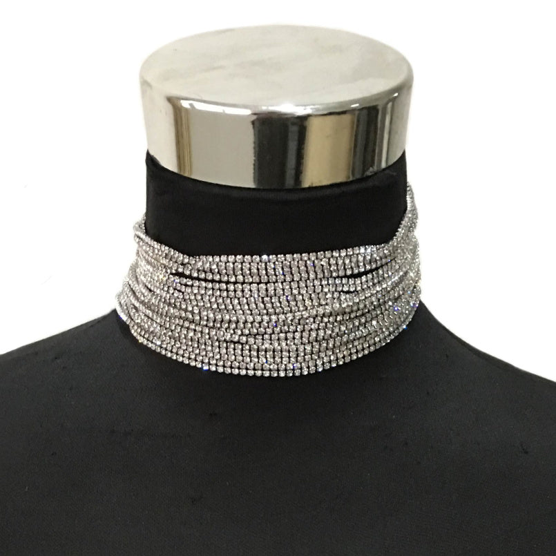 Rhinestones Chokers Necklaces For Women