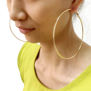 Metal Big Hoop Earrings For Women
