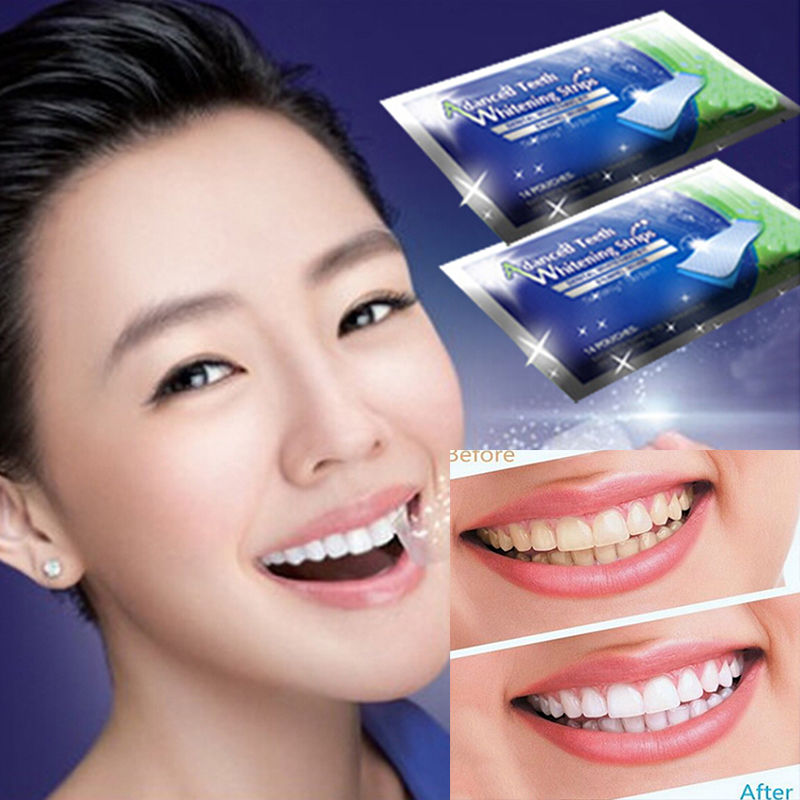 Gel Strips Teeth Whiten Tools (14 packs)