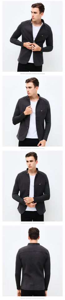 Mens Jacket Woolen Casual Blazer
