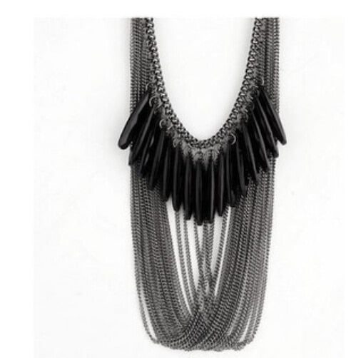 Drop Acrylic Tassle Multilayer Necklace For Women