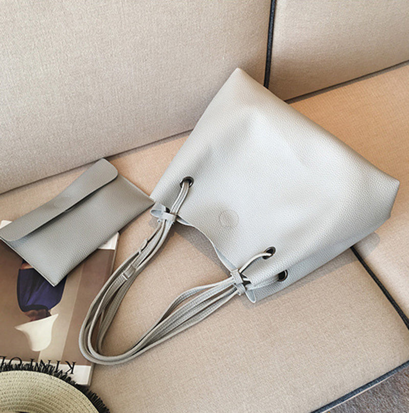 Soft Leather Women Bag Set Luxury