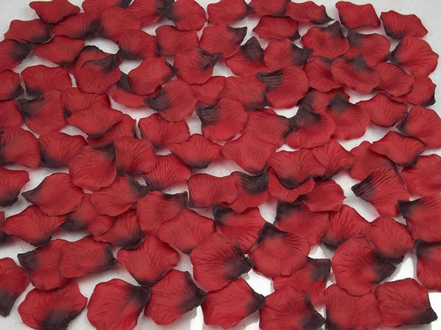 Kyunovia 500pcs Rose Petals wedding accessories Petalos De Rosa Wedding Decoration Artificial Fabric Wedding Rose Petals FR02