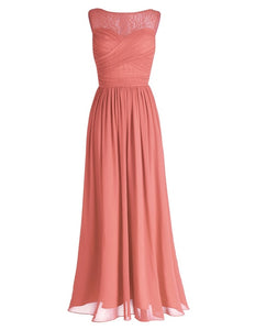 Women Chiffon Lace Bridesmaid Dress