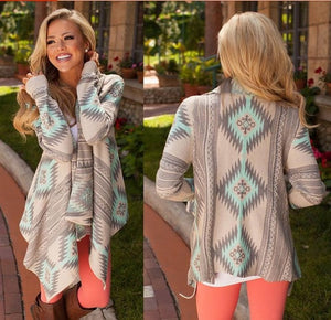 Knitted Cardigan Long Sleeve Poncho Sweaters
